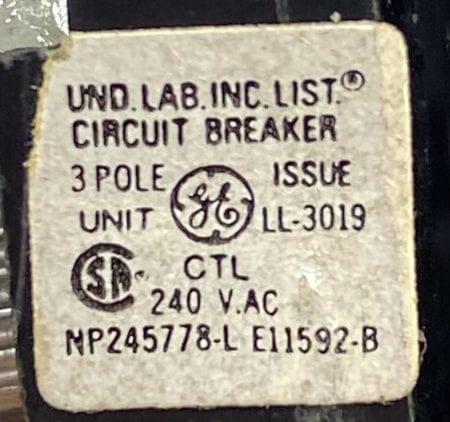 General Electric THQB32070