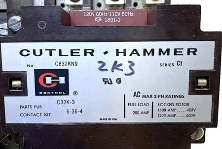 Cutler Hammer C832LN1-C832KN9
