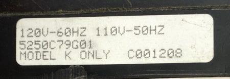 Cutler Hammer Westinghouse 701816A-01-120