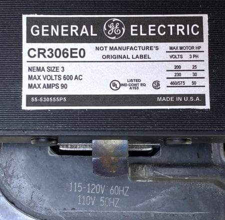 General Electric CR306E0-120-NML