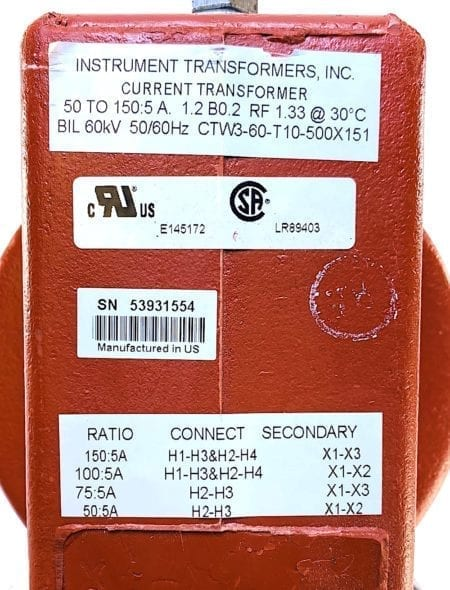 Current Transformer CTW3-60-T10-500X151