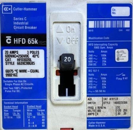 Cutler Hammer HFD3020L-BL-AUX