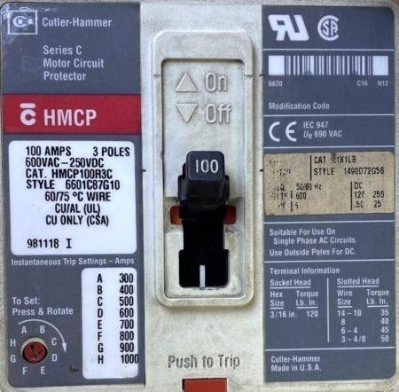 Cutler Hammer HMCP100R3C-AUXx2