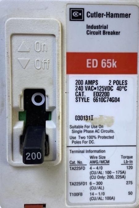 Cutler Hammer ED2200-RL