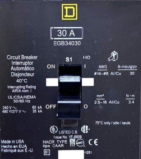 Square D EGB34030