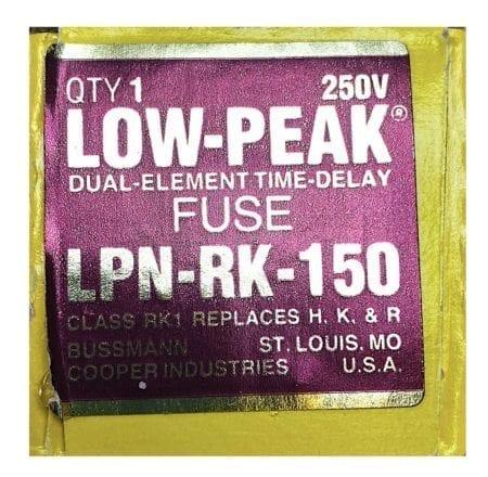 Cooper Bussmann LPN-RK-150-Single