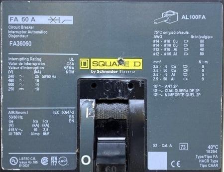 Square D FA36060-CL
