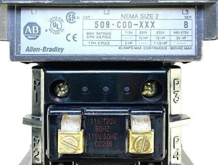 Allen Bradley 509-COD-XXX