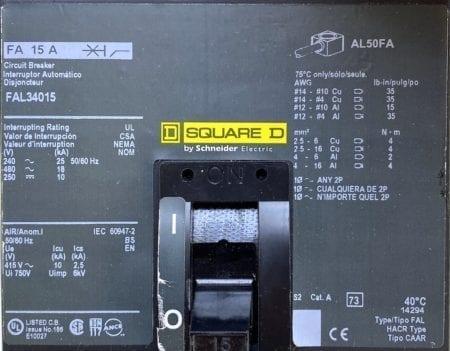 Square D FAL34015-CL