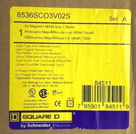 Square D 8536SCO3S-NIB