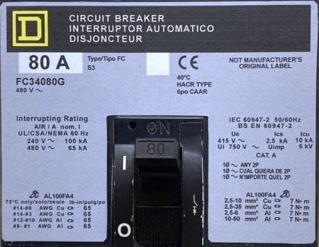 Square D FC34080G-NML-GL