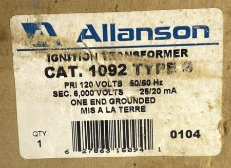 Allanson 1092-S-NEW