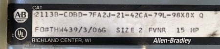 Allen Bradley 2113B-CDBD-SIZE-2