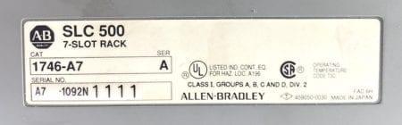 Allen Bradley 1746-P2-7S