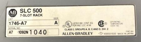 Allen Bradley 1746-A7