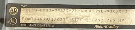 Allen Bradley 2113B-BDBD