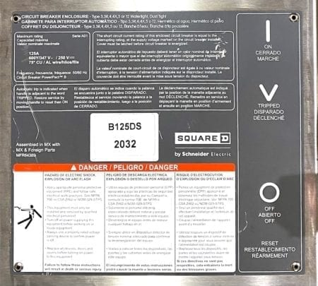 Square D B125DS-NEW