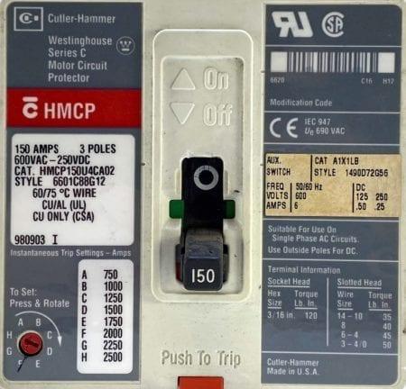 Cutler Hammer HMCP150U4CA02-AUX