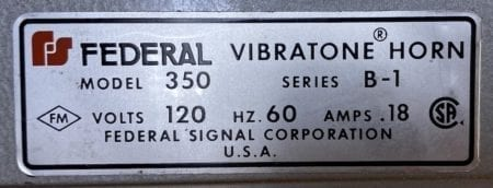 Federal 350-B1-HORN