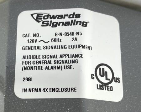 Edwards Signaling B-N-8546-N5