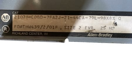 Allen Bradley 2107B-CDBD-REVERSE-SIZE2-30A