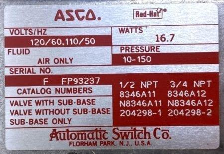 Asco 8346A11-NIB