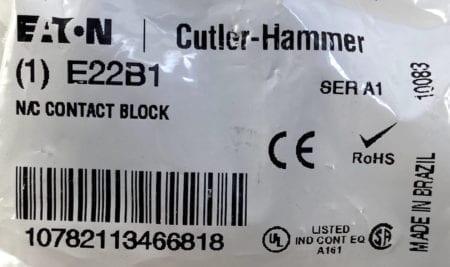 Cutler Hammer E22B1-10-NEW