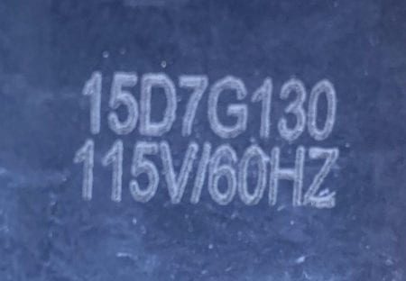 PSC 15D7G130