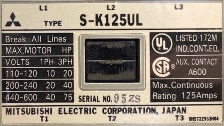 Mitsubishi S-K125UL-REV-NIB