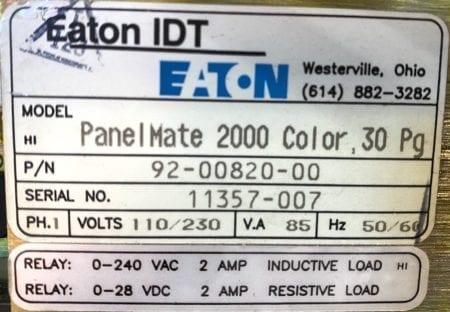 Eaton Cutler Hammer 92-00820-00+91-00918-00