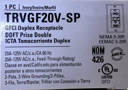 Cooper TRVGF20V-SP-NIB