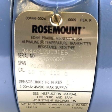 Rosemount 0444RL2U1A1E5