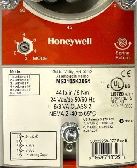 Honeywell W7220A1000+ACTUATOR+SENSORS