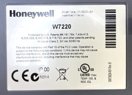 Honeywell W7220A1000+WIRES