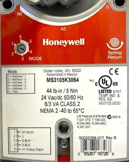 Honeywell MS3105K3064+BOLTS