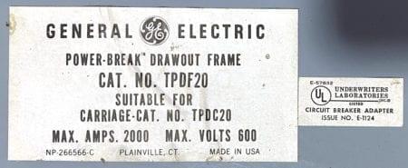 General Electric TPDF20