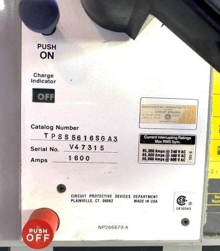 General Electric TPSS561SGA3