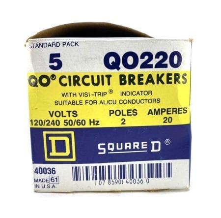 Square D QO220-NIB-5