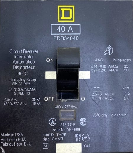 Square D EDB34040