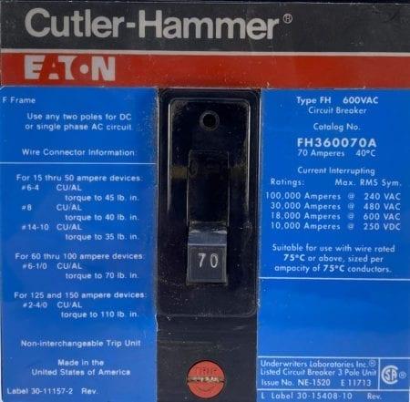 Eaton Cutler Hammer FH360070A
