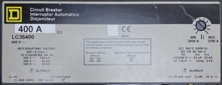 Square D LC36400-GL