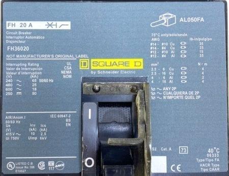 Square D FH36020-NML-CL