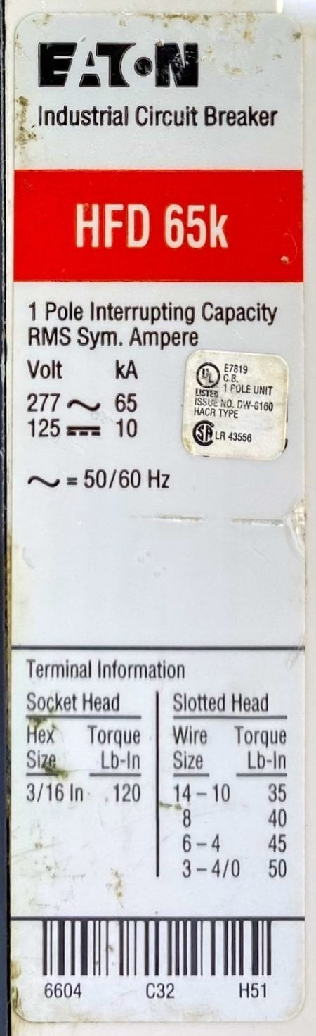 Eaton Cutler Hammer HFD1030-RL