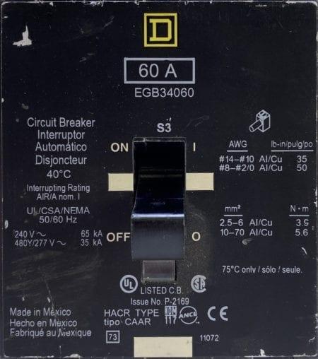 Square D EGB34060