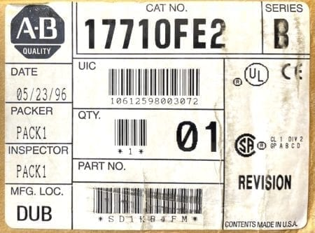 Allen Bradley 1771-OFE2-NIB