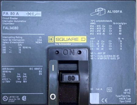 Square D FAL34080-CL-NIB