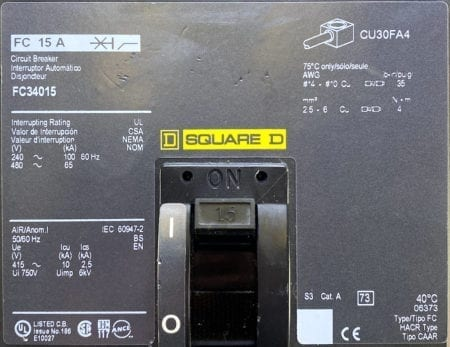 Square D FC34015-CL