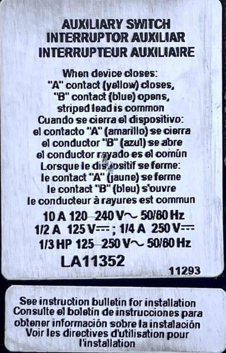 Square D LA11352