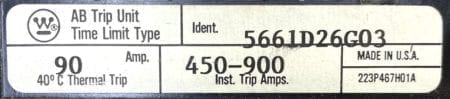 Westinghouse 5661D26G22-5661D26G03-BOLTS