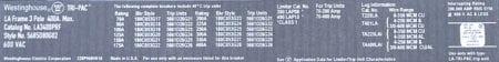 Westinghouse LA3400PRF-NML-150-BA